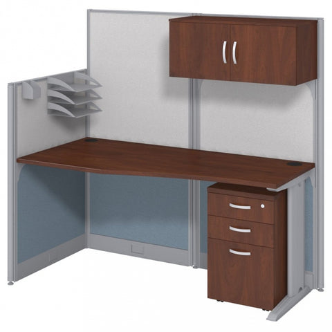 3 Pack Straight Cubical Workstation with Storage 194x33