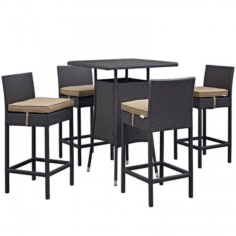 Lona 5 Piece Rattan Table and Chairs Set