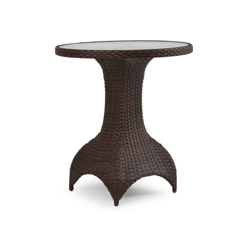 Ludie Wicker Table with Glass Top