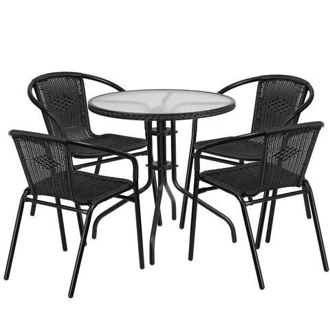 Monty Rattan Coffee Table Set 28 Inch
