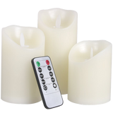 LED Lytes Battery Operated Flameless Unscented Ivory