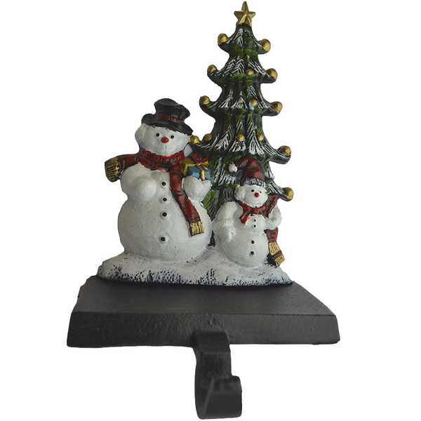 Lulu Decor Cast Iron Christmas Stocking Holder Set of 4 hooks
