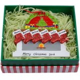 MAXORA Personalized Ornaments Fireplace Christmas Gift Box 5