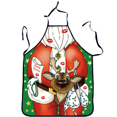 NEW BARLEY Christmas Apron Decoration For Kitchen Bar
