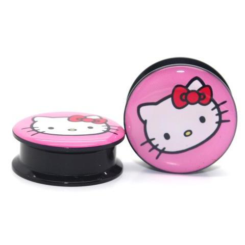 Hello Kitty Tunnel (Single) Acrylic Screw Thread - TrippyKitty