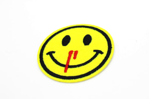 Nose Bleed Smiley Patch - TrippyKitty