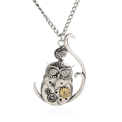Steampunk Inspired Owl Pendant - TrippyKitty