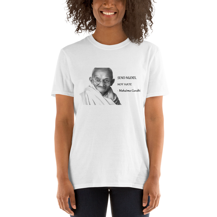 Mahatma Gandhi Send Nudes Cotton Tshirt