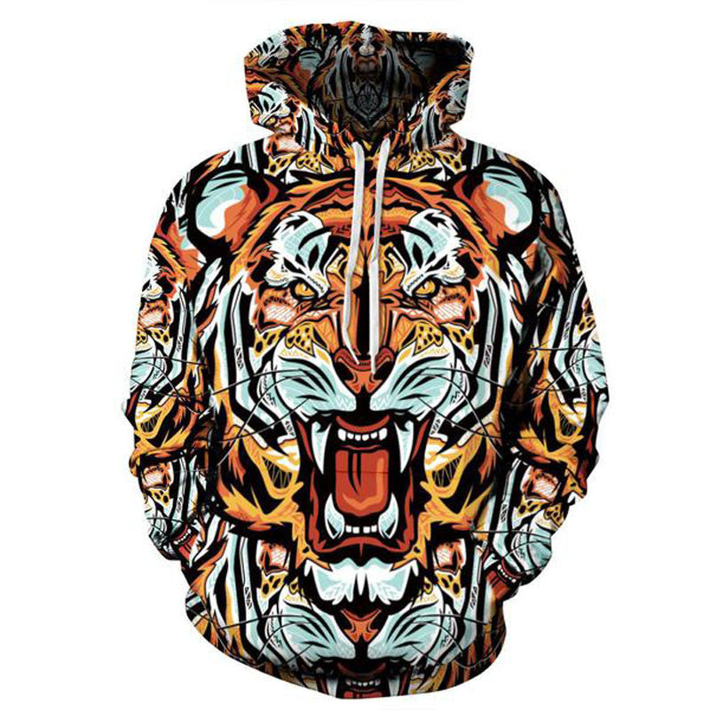 Tiger Print 1 Hoodie - TrippyKitty