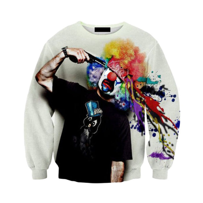 Tears of a Clown Crew Neck Sweatshirt - TrippyKitty