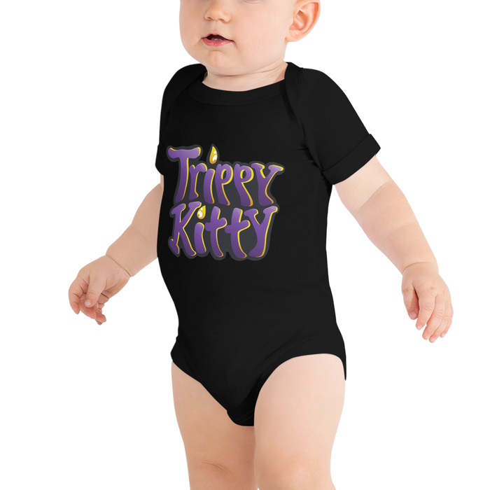 Trippy Kitty Baby Grow