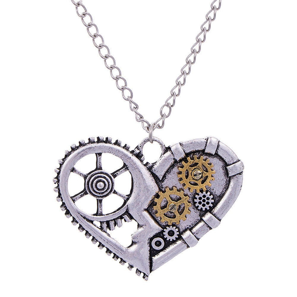 Steampunk Inspired Heart Pendant - TrippyKitty
