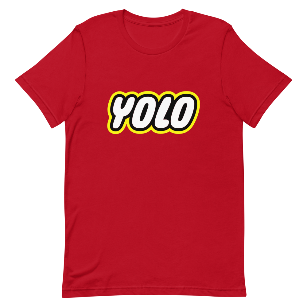 Yolo Red Cotton T-shirt
