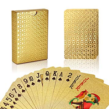 Gold Leaf Plated Playing Cards - TrippyKitty