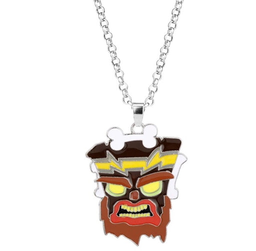 Bandicoot Tiki Bad Mask  Pendant - TrippyKitty