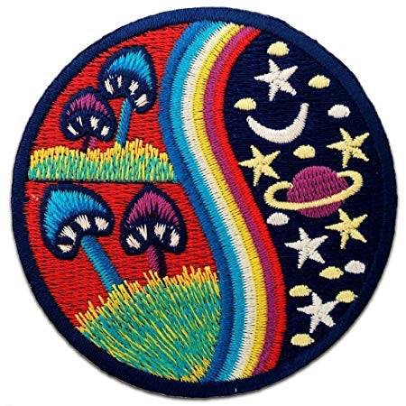 Space Mushroom Iron on Patch - TrippyKitty