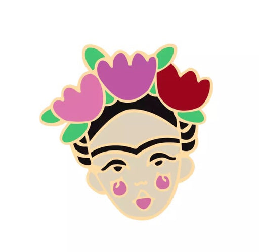 Frida Kahlo Pin Badge (Enamel) - TrippyKitty