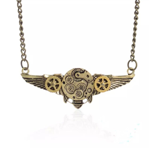 Cog wings Steampunk Inspired Pendant - TrippyKitty