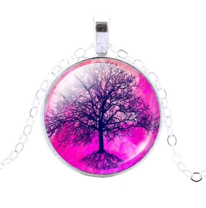 Tree Of Life Pendant (Pink)