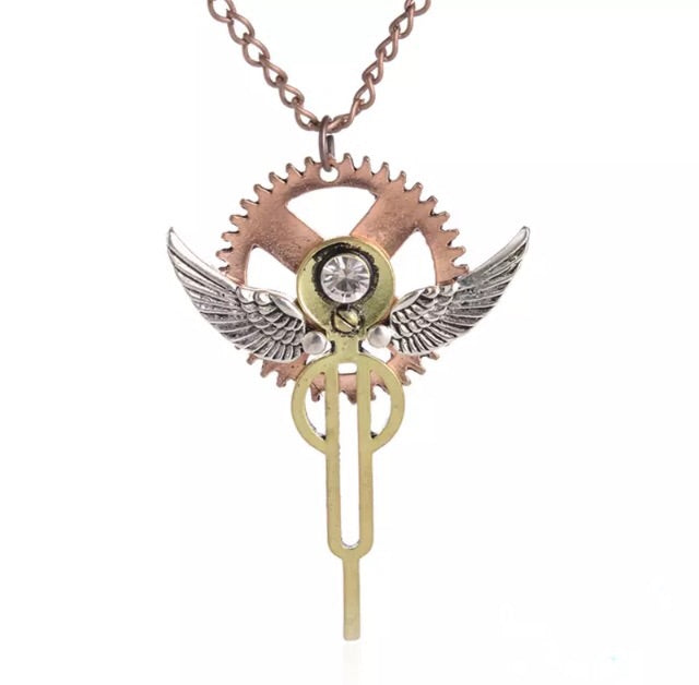 Cog Sigil Steampunk Inspired Pendant - TrippyKitty