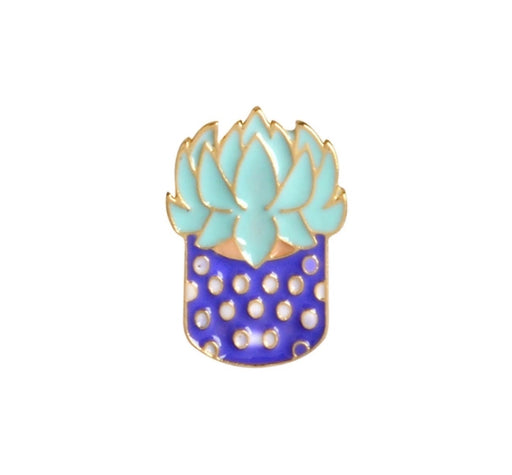 Succulent Pin Badge (Enamel) - TrippyKitty