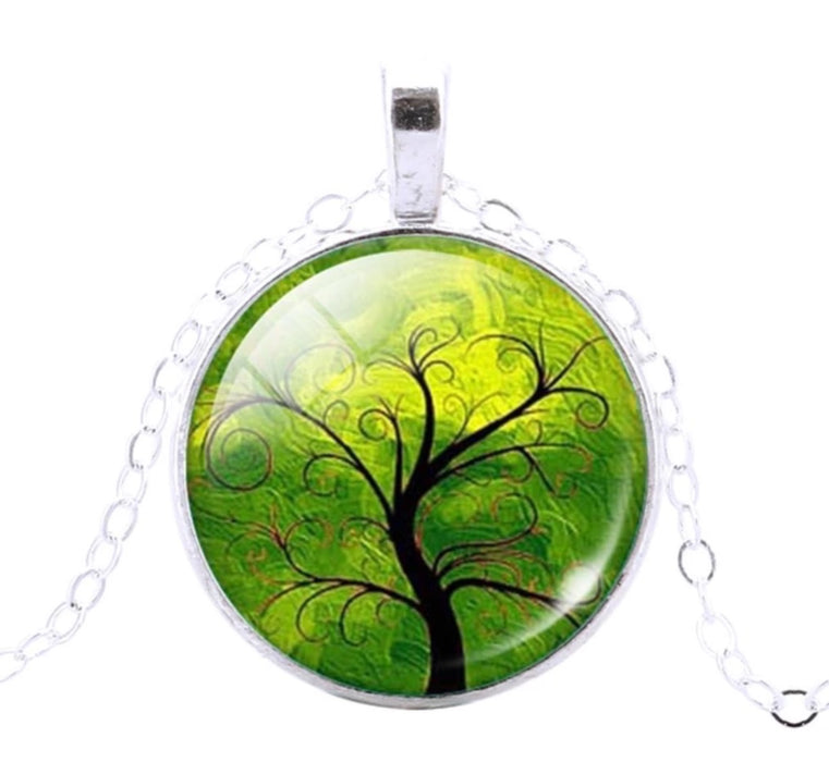 Tree Of Life Pendant (Green) - TrippyKitty