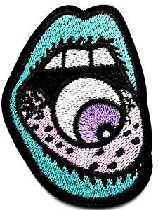 Eyeball mouth  Iron on Patch - TrippyKitty