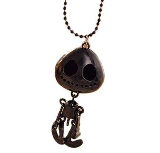 Black Alien Skeleton Necklace - TrippyKitty