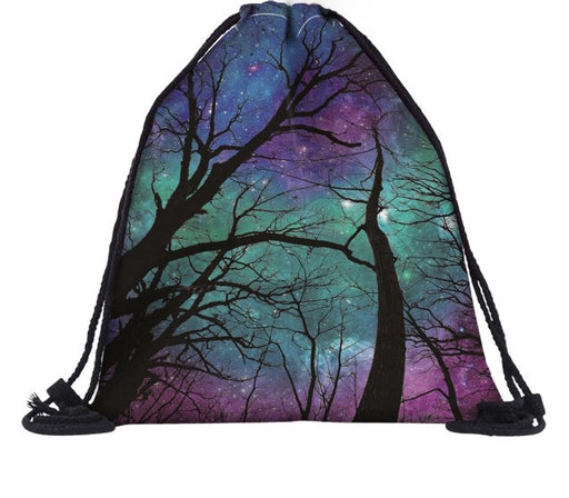 Cosmic Forest Drawstring Bag - TrippyKitty