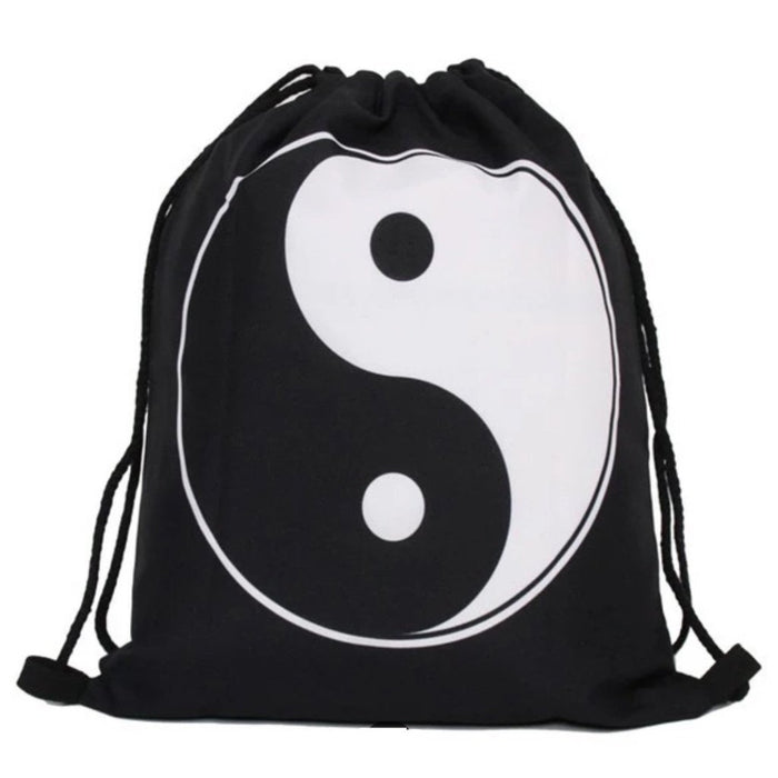 Yin Yang Drawstring Bag - TrippyKitty