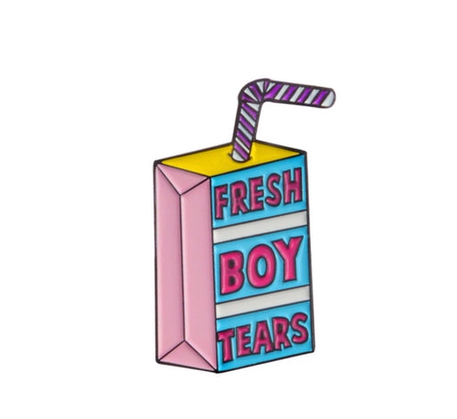 Fresh Boy Tears Pin Badge (Enamel) - TrippyKitty
