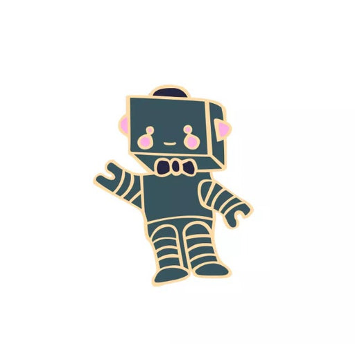 Robot Pin Badge (Enamel) - TrippyKitty