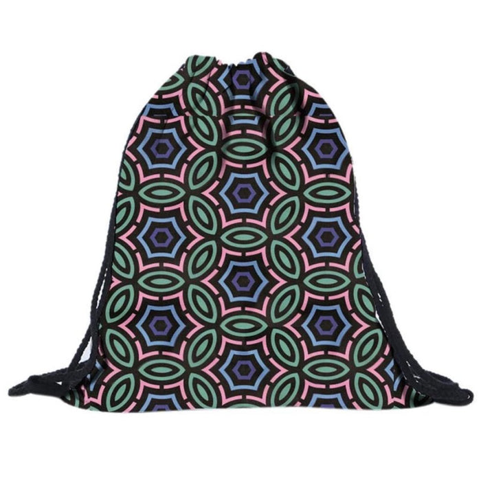 Flower of life Drawstring Bag - TrippyKitty