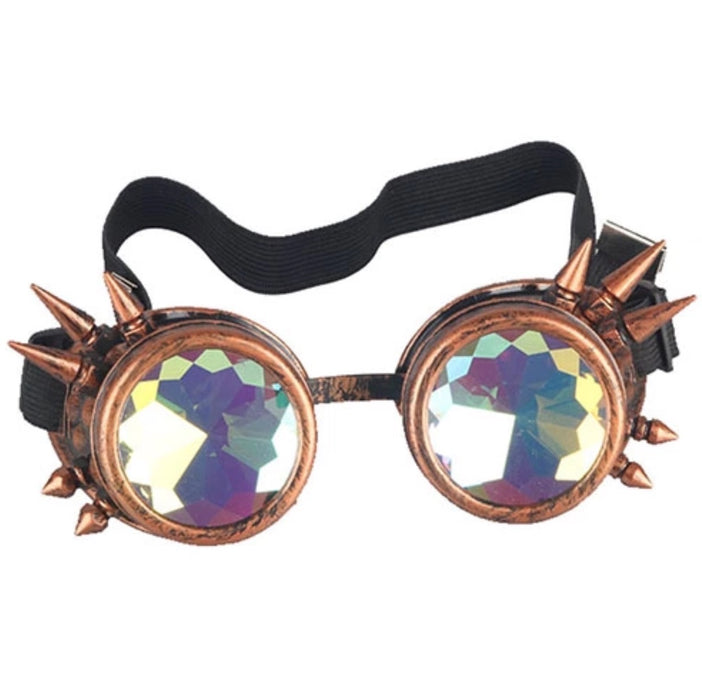 Steampunk Goggles with Kaleidoscope Lenses (Bronze)