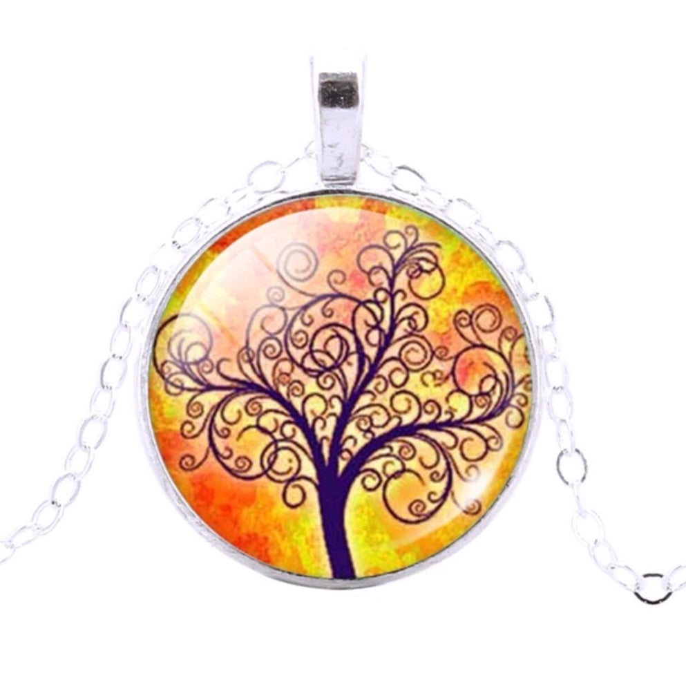 Tree Of Life Pendant (Orange & Yellow) - TrippyKitty