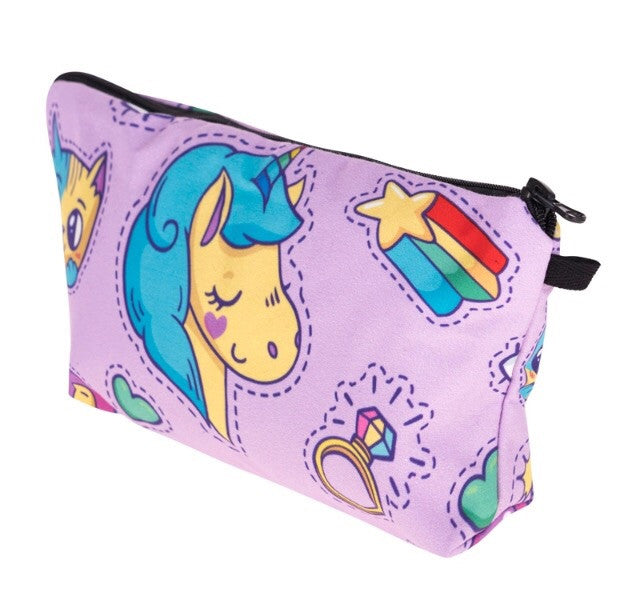 Unicorn Cosmetic Clutch Bag - TrippyKitty
