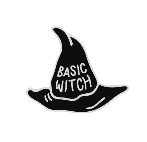 Basic Witch Pin Badge (Enamel) - TrippyKitty