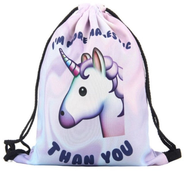 I'm More Majestic Than You Drawstring Bag - TrippyKitty