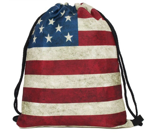U.S.A Drawstring Bag - TrippyKitty