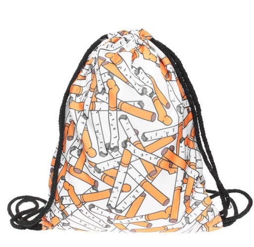 Cigarettes Drawstring Bag - TrippyKitty