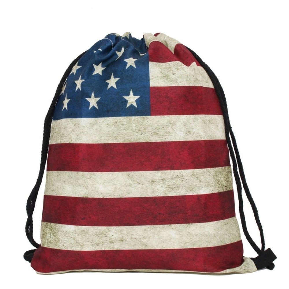 U.S.A Flag Drawstring Bag - TrippyKitty