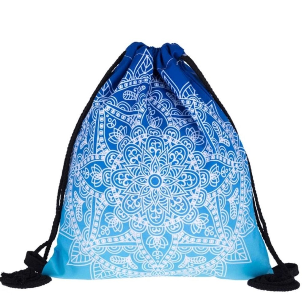 Blue Mandala Drawstring Bag - TrippyKitty