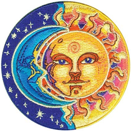 Sun & moon Iron on Patch - TrippyKitty