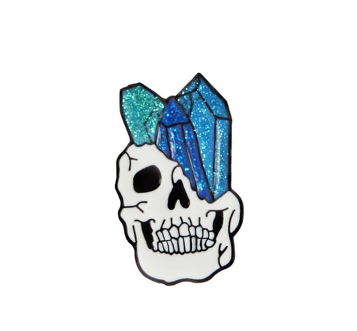 Crystal Skull 3 Pin Badge (Enamel) - TrippyKitty