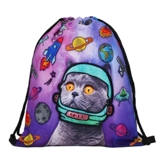 Space Puss Drawstring Bag - TrippyKitty