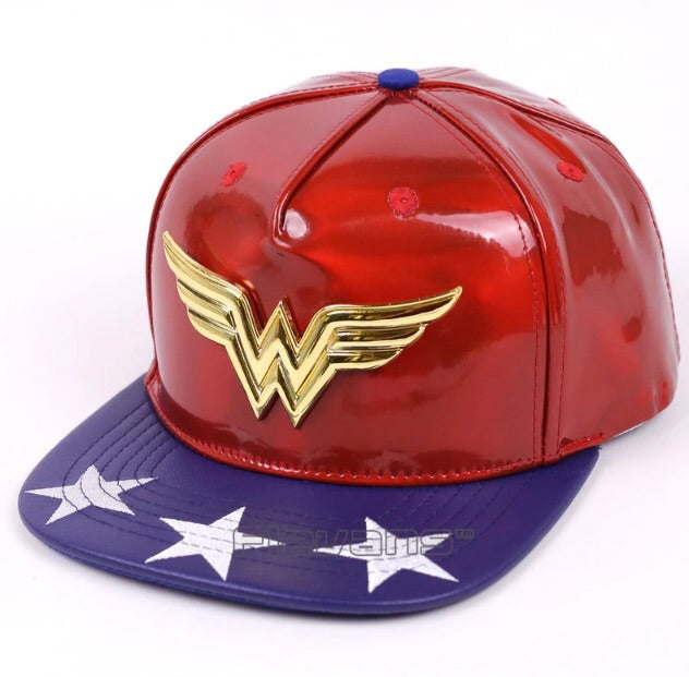 Wonder Woman Pleather SnapBack Cap - TrippyKitty