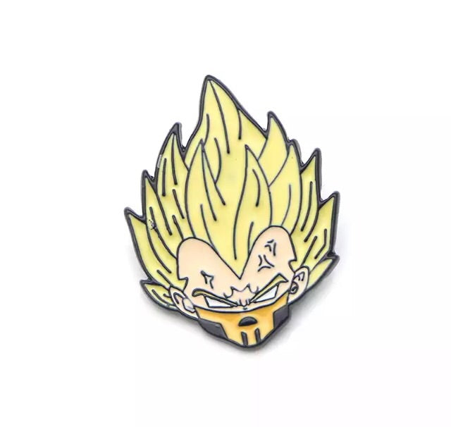 Yellow Super Kombat crossover Pin Badge (Enamel) - TrippyKitty