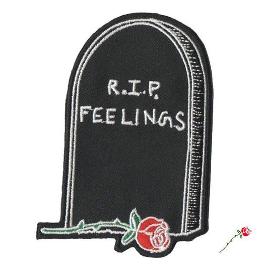R.I.P Feelings Iron on Patch - TrippyKitty