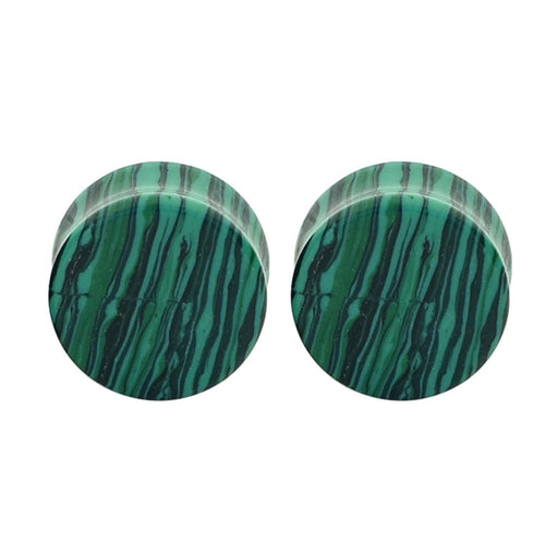 Green Aventurine Quarts Tunnel (Single) Gemstone Double Flare - TrippyKitty