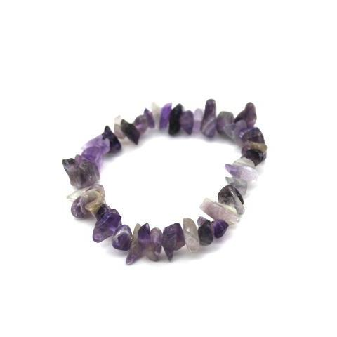 Amethyst Quarts Crystal Gemstone Bracelet - TrippyKitty